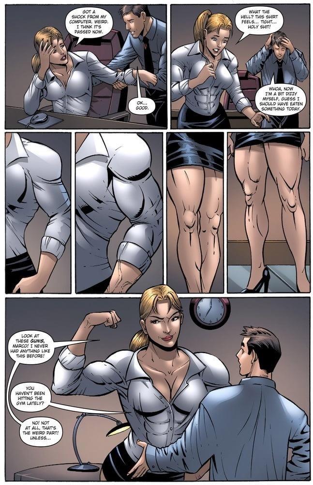 Female muscle big clit-6211