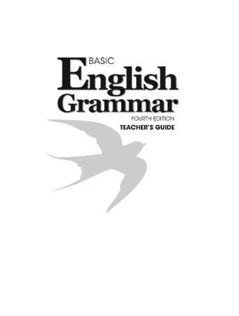 basic of english grammar teacher s