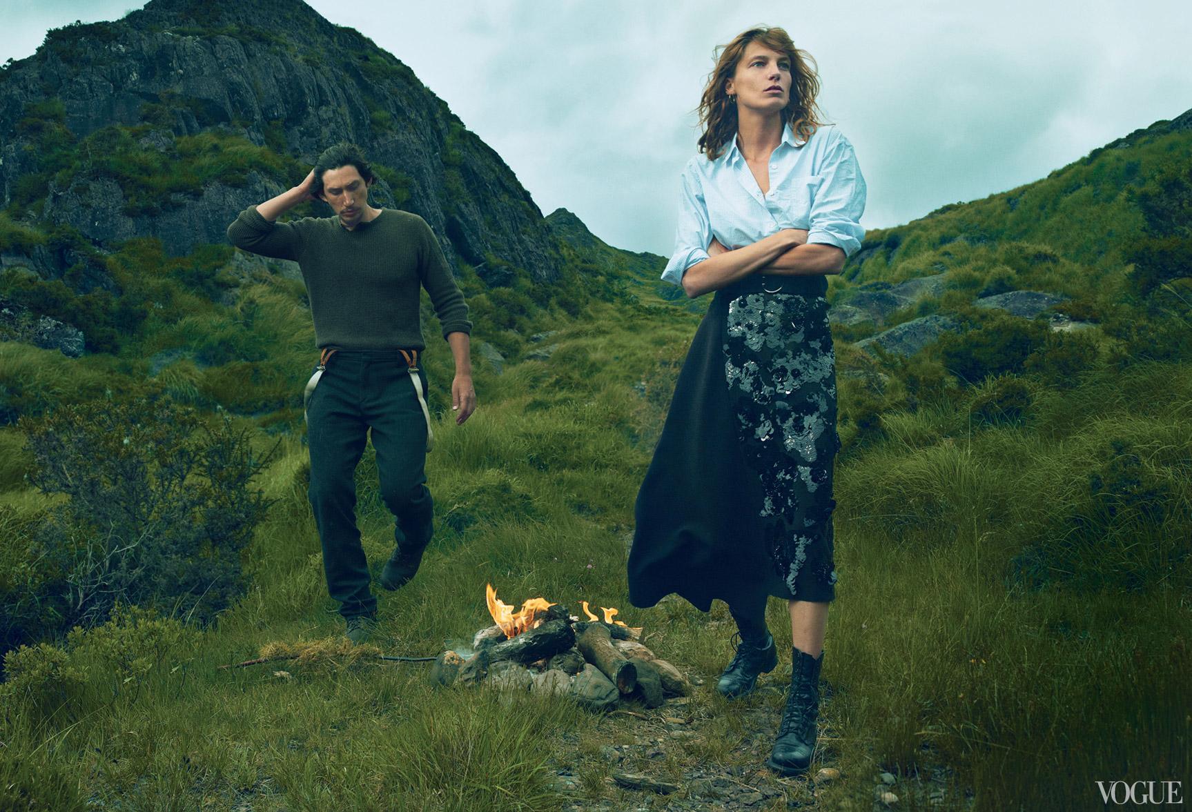 Дарья Вербовы и Адам Драйвер отдыхают на необитаемом острове / фото 03