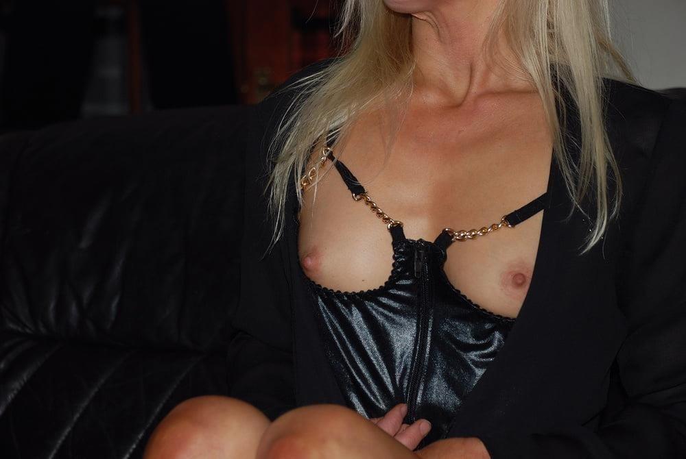 Black real leather mini skirt-8640