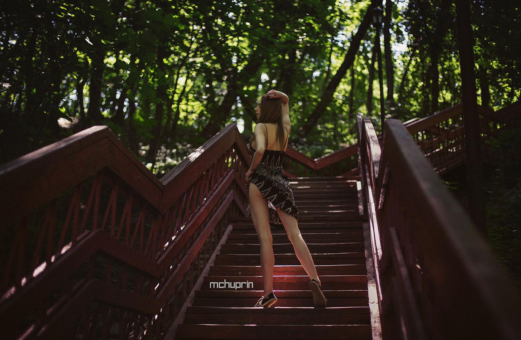 прогулки на природе с Катериной Райх / Katerina Raih naked by Maxim Chuprin