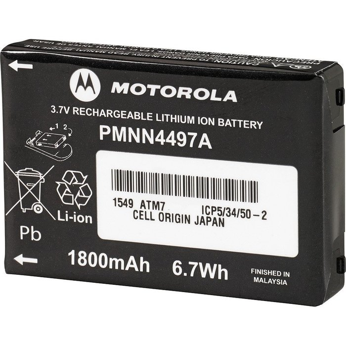 Motorola High Capacity BATTERY PMNN4497AR VL50 CLS1000 CLS1110 CLS1410 LI-ION
