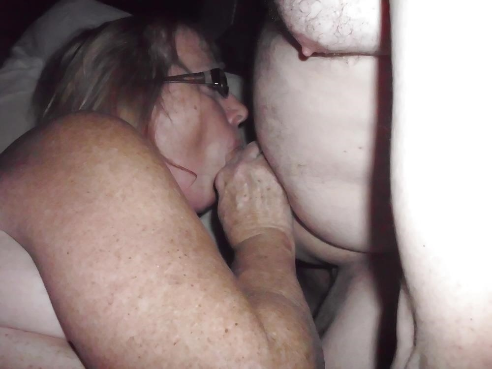 Husband watches wife in threesome-8175