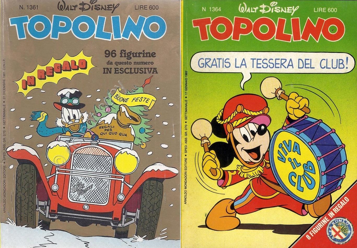 I GADGET DI TOPOLINO DEGLI ANNI OTTANTA