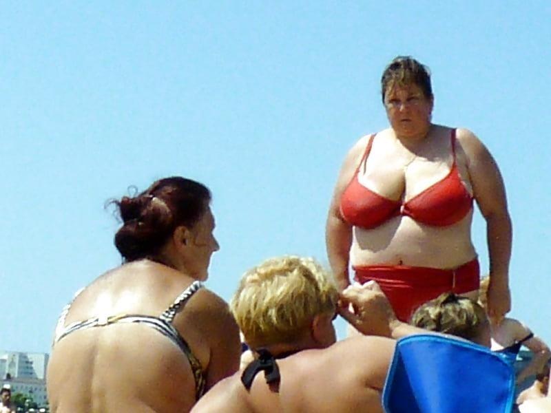 Nude big boobs on beach-8334