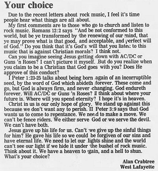 1989.02.21/04.10 - Journal and Courier (Lafayette, IN.) - Readers' letters/Debate on GN'R L5x1JxeS_o