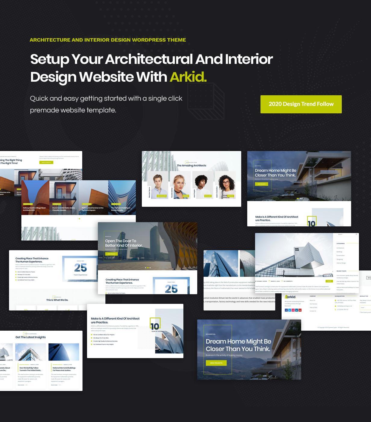 Arkid - architecture & interior design WordPress theme