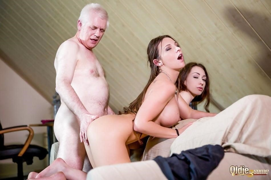 Threesome sex two girls-3807
