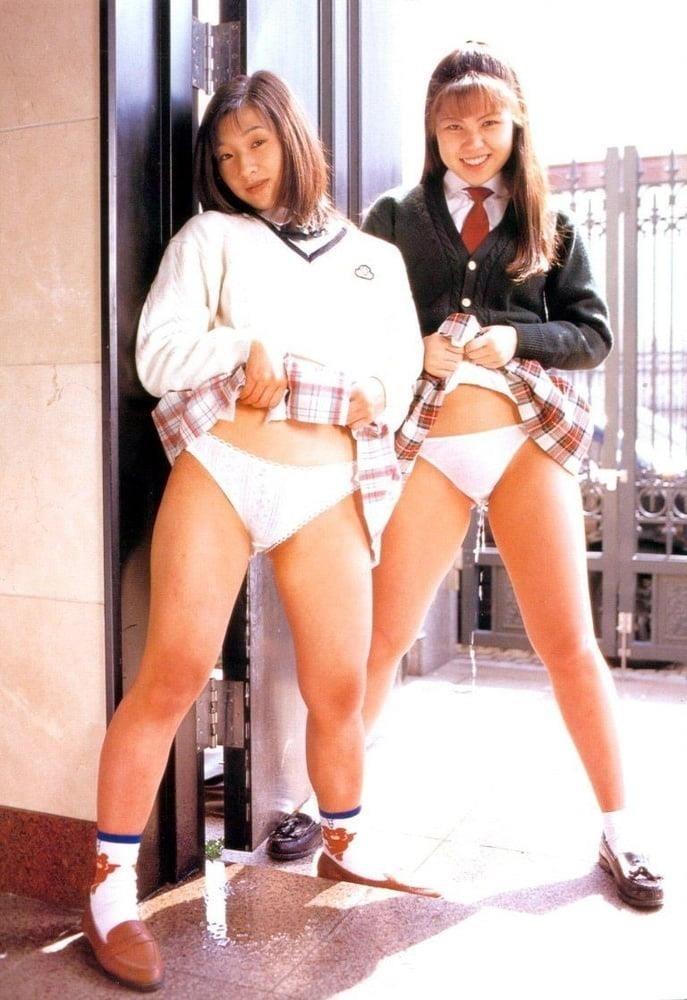 Japanese lesbian in public-1397