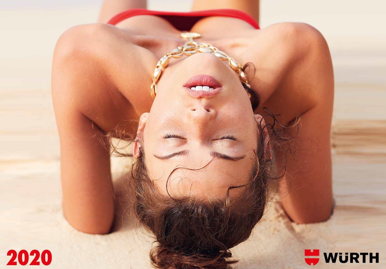 Сексуальные девушки-фотомодели в календаре корпорации Wurth на 2020-й год / обложка