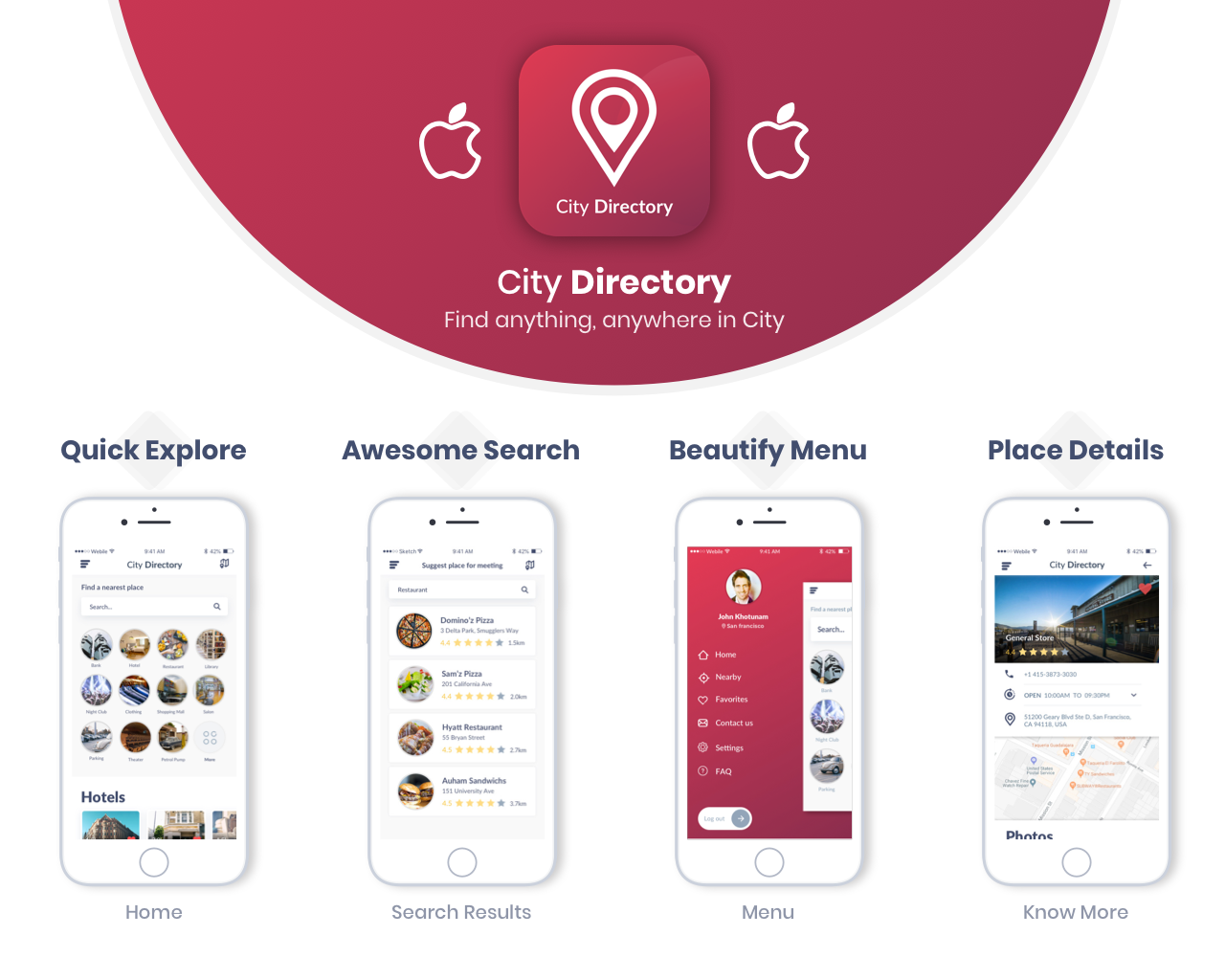 City Directory iOS Native App Source Code Free 2018