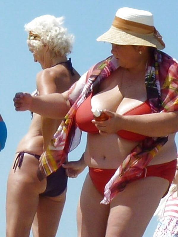 Nude big boobs on beach-7896