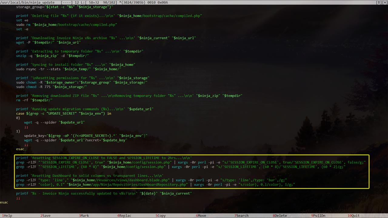Update Script Example