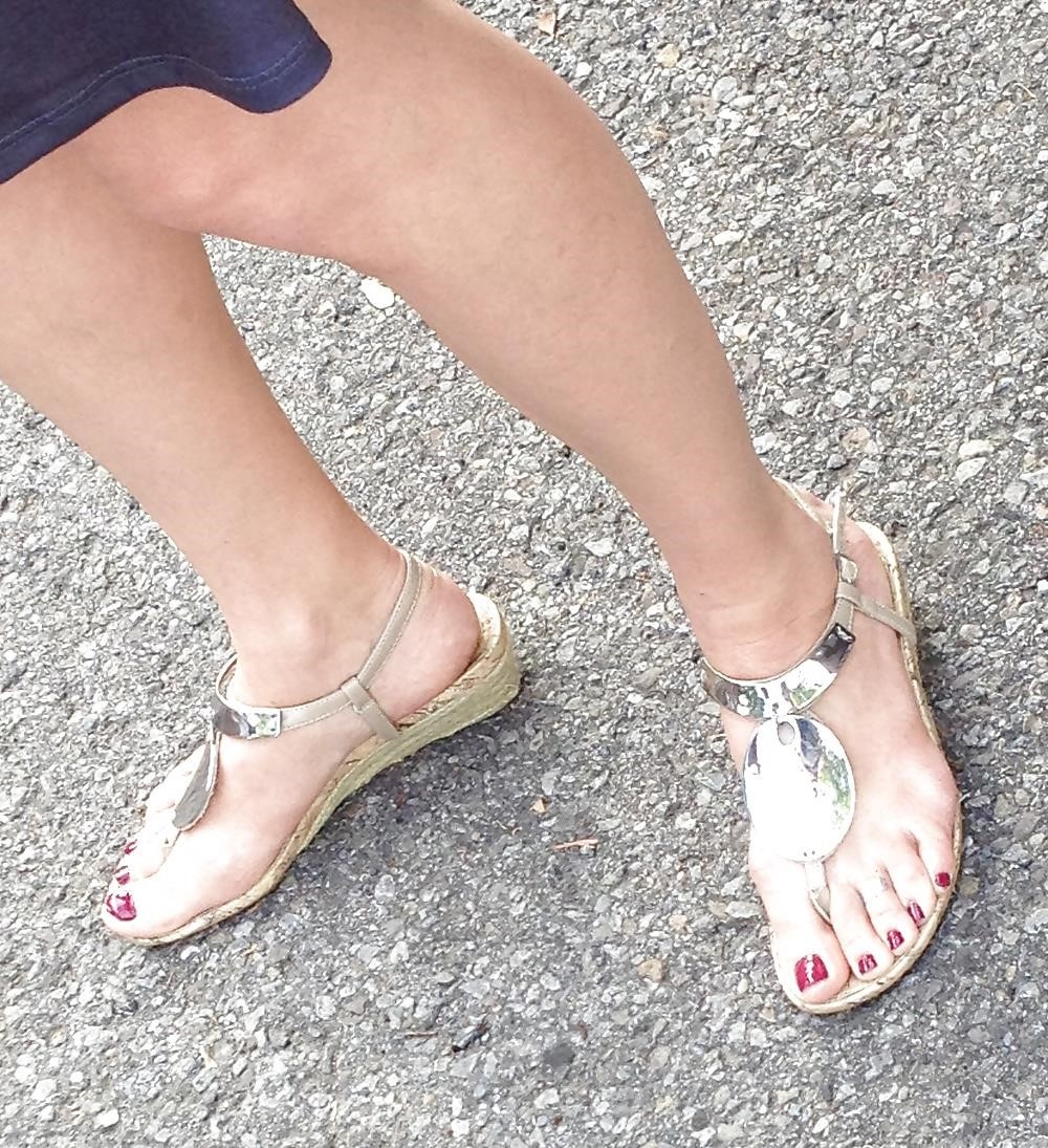 Long toes foot fetish-7166