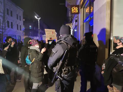Протесты женщин в Катовице