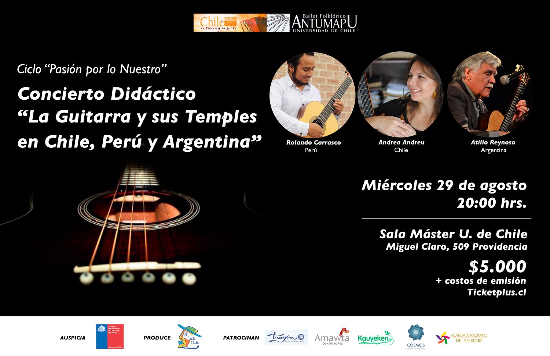 La Guitarra y sus Temples en Chile, Perú y Argentina