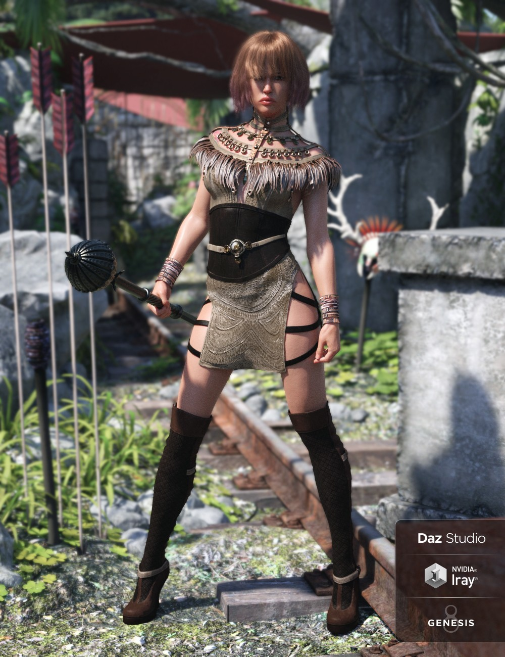 Advent Outfit for Genesis 8 Female(s)