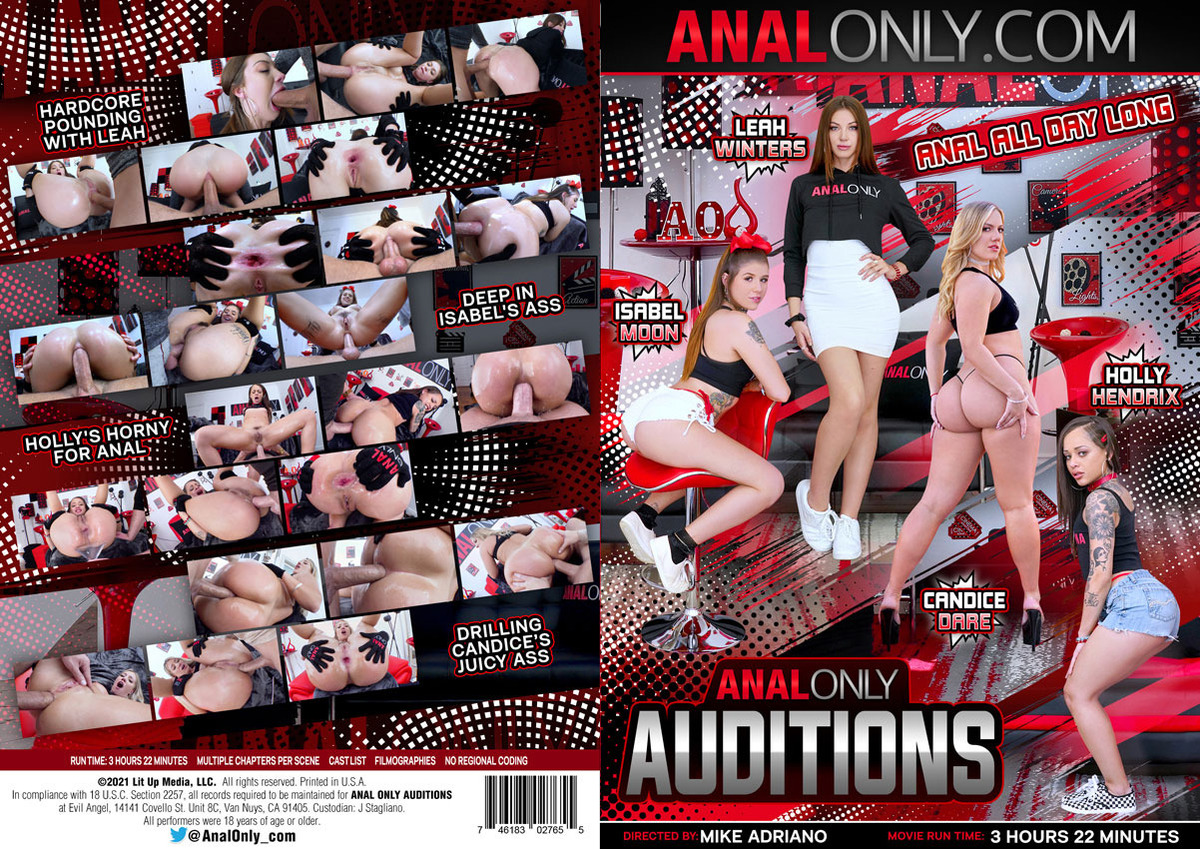 Anal Only Auditions / Только Анальные Пробы (Mike Adriano, Anal Only) [2021 г., Gonzo Hardcore Anal Rimming, WEB-DL, 1080p] (Split Scenes)( Candice Dare, Holly Hendrix, Isabel Moon, Leah Winters )