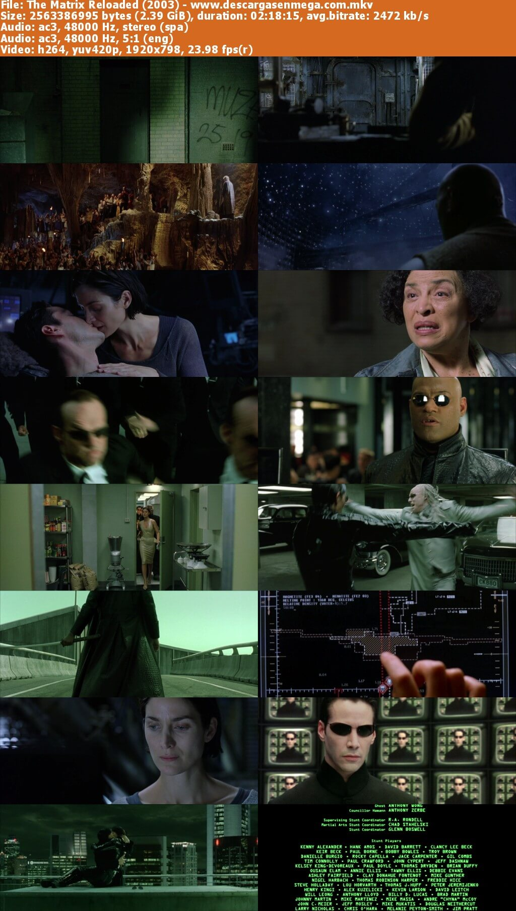 matrix recargado capturas
