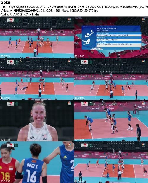 Tokyo Olympics 2020 2021 07 27 Womens Volleyball China Vs USA 720p HEVC x265-MeGusta