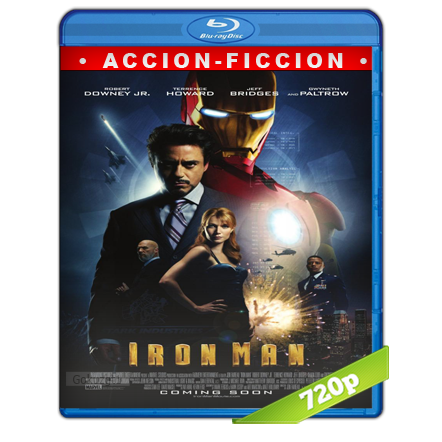 descargar Iron Man 1 720p Lat-Cast-Ing 5.1 (2008) gartis