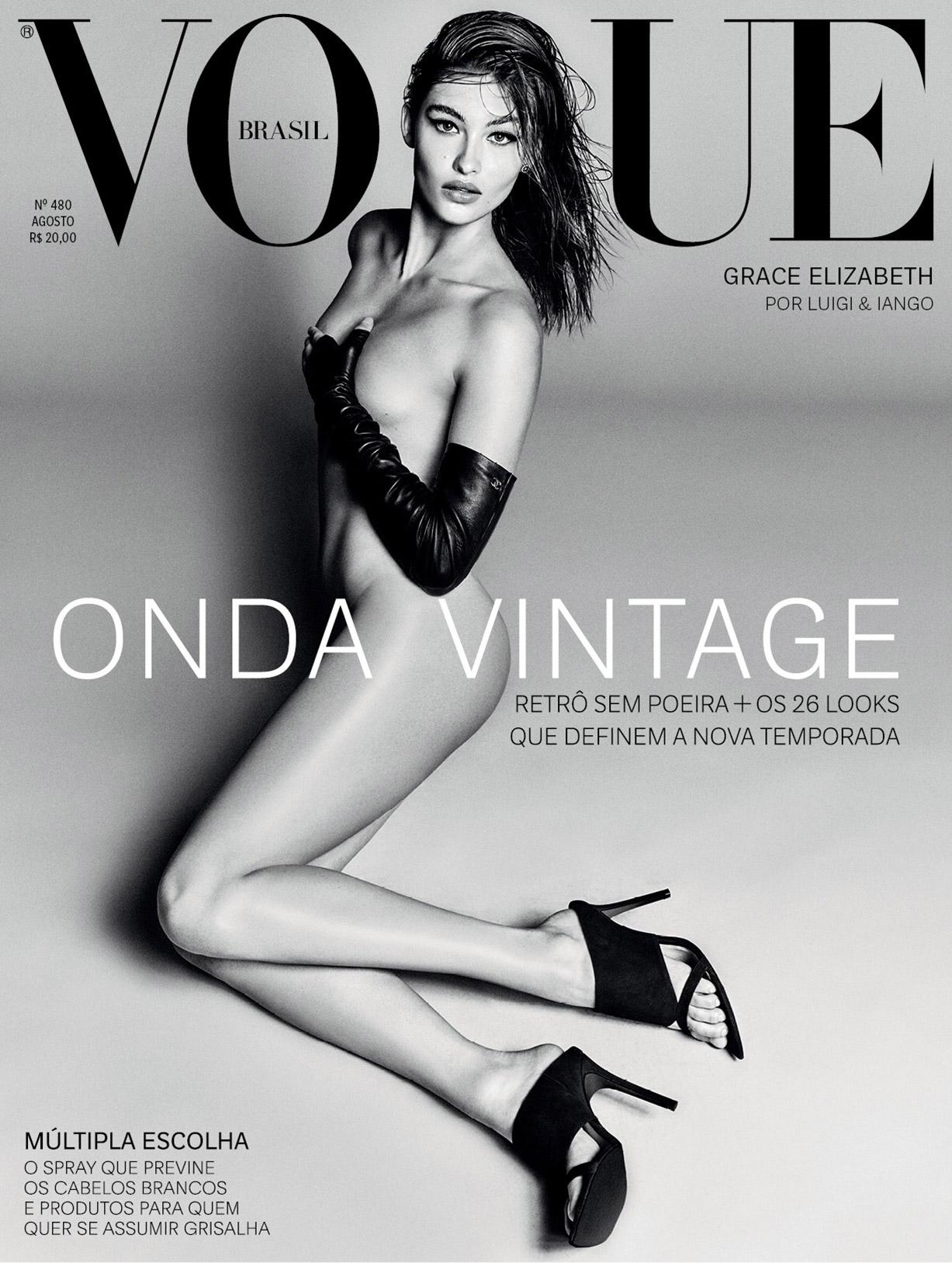 Grace Elizabeth by Luigi Murenu and Iango Henzi - Vogue Brazil august 2018