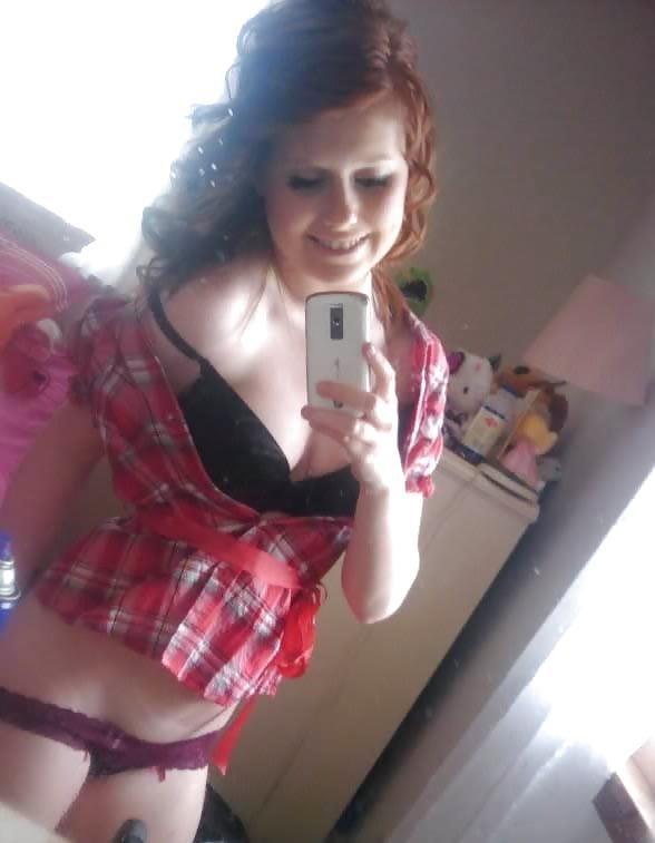 Ginger teen nude selfie-1516