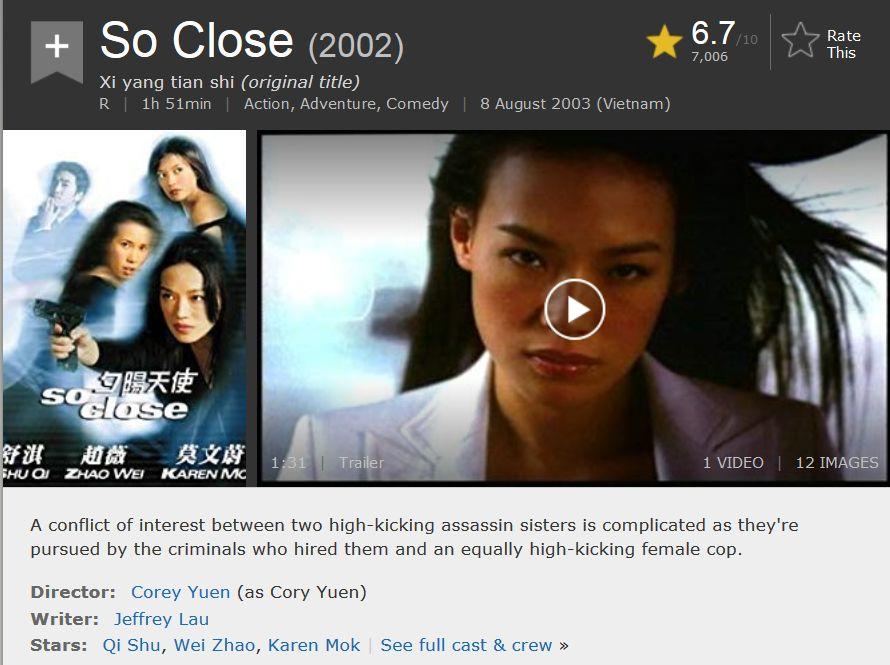 Hành Động] So Close 2002 Bluray REMUX 1080p AVC DTS-HD MA
