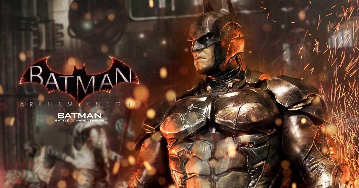 Batman : Arkham Knight - Batman Battle damage Vers. Statue (Prime 1 Studio) NirdOddU_o