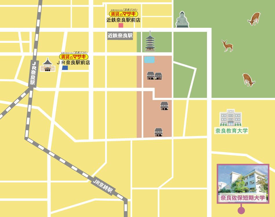 奈良佐保短期大学周辺の賃貸検索地図