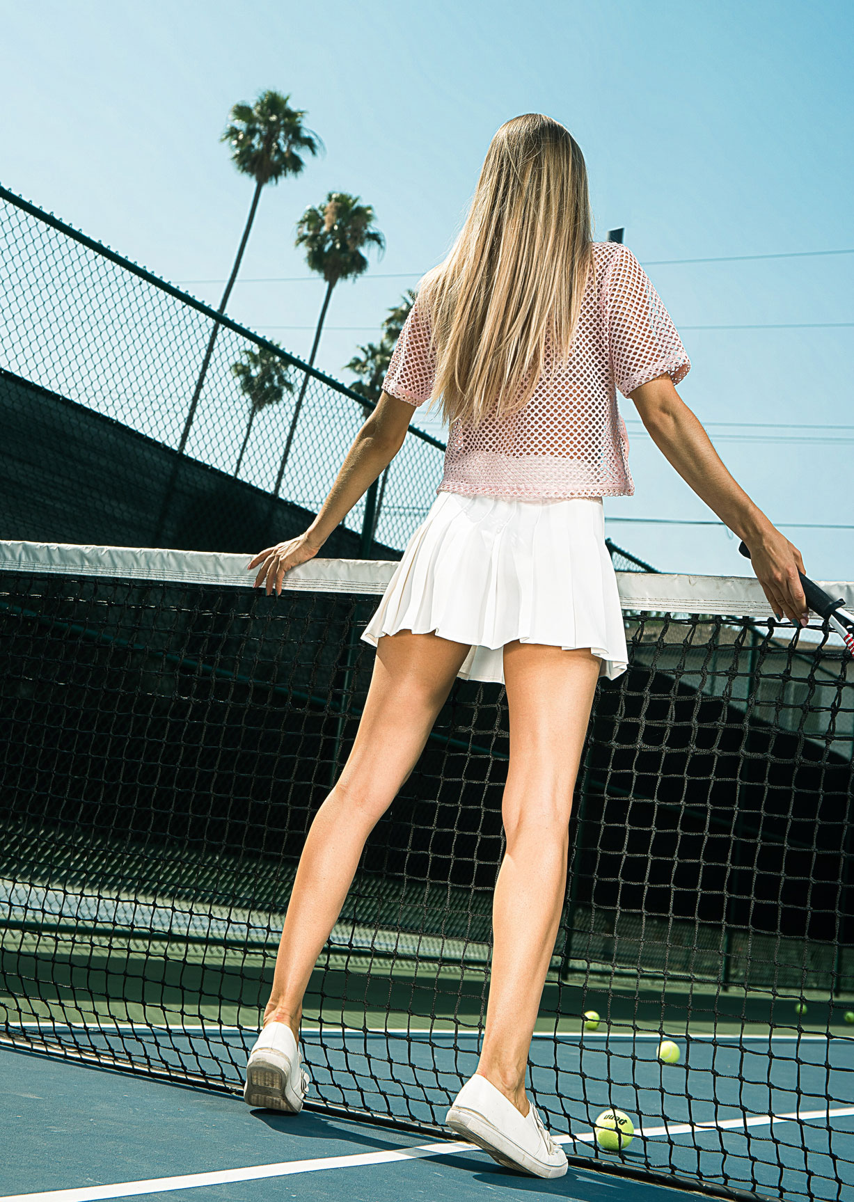 Swing / Играем в теннис с Элизой Бренд / Jeliza Brand by Mark Hanson - Toksick Magazine