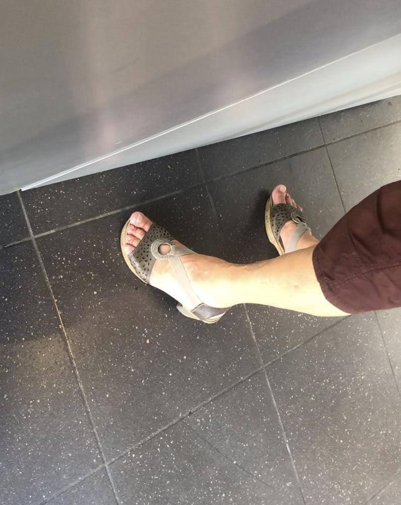 Granny feet in nylons-6781
