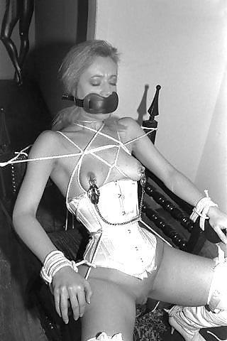 Bondage and gagged girl-9502