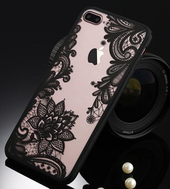 COVER CUSTODIA CASE TPU SILICONE FIORE dI LOTO per iPHONE 7 ...