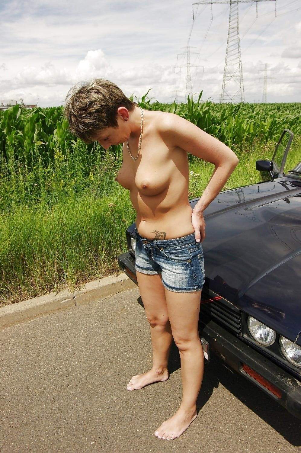 Naked girl with jeans-9099