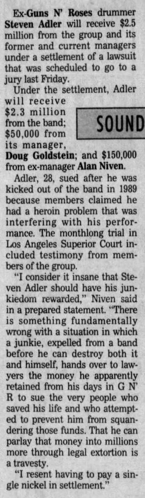 1993.10.01 - The Orlando Sentinel - Untitled [Alan Niven's statement on the Adler lawsuit] Bvx6EK1F_o