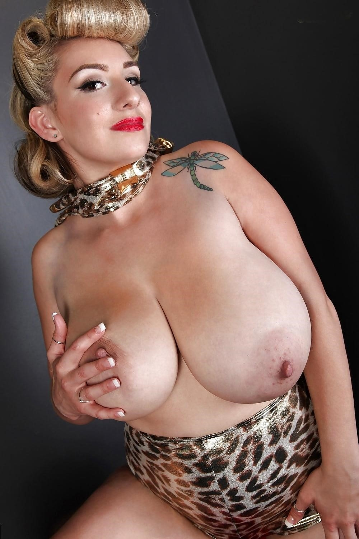 Blonde big tits selfie-6242