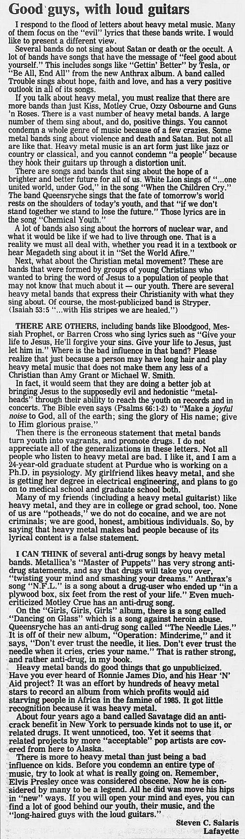 1989.02.21/04.10 - Journal and Courier (Lafayette, IN.) - Readers' letters/Debate on GN'R 9kK8NWkR_o