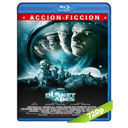 El Planeta De Los Simios (2001) BRRip 720p Audio Trial Latino-Castellano-Ingles 5.1