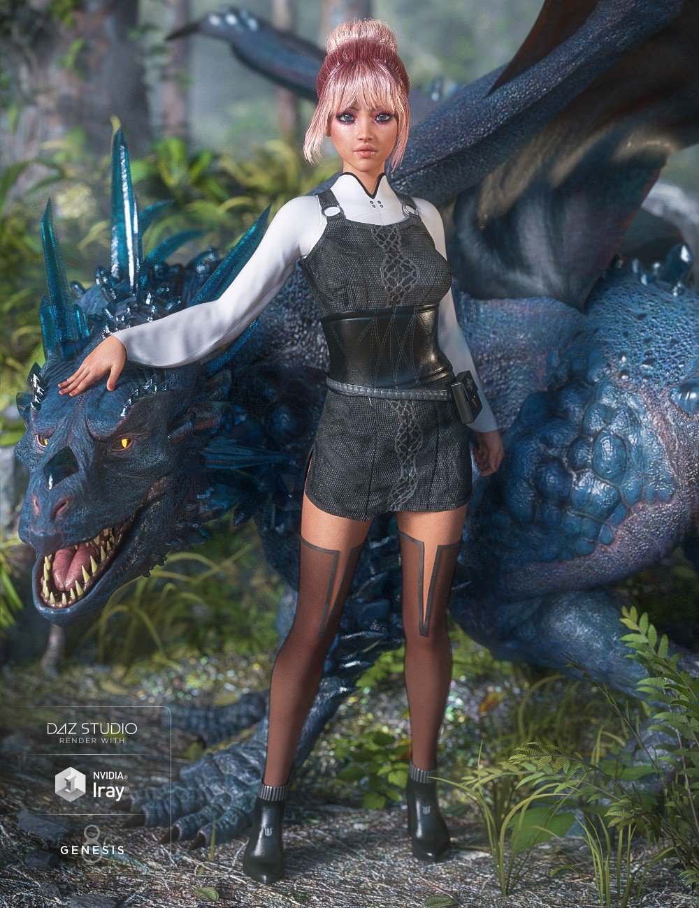 dForce Dragon Sitter Outfit for Genesis 8 Female(s)