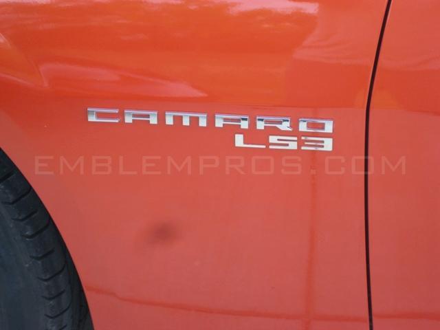 "2010-2015 Camaro /""L99/"" Emblem Badge Mirror Stainless Steel Text"