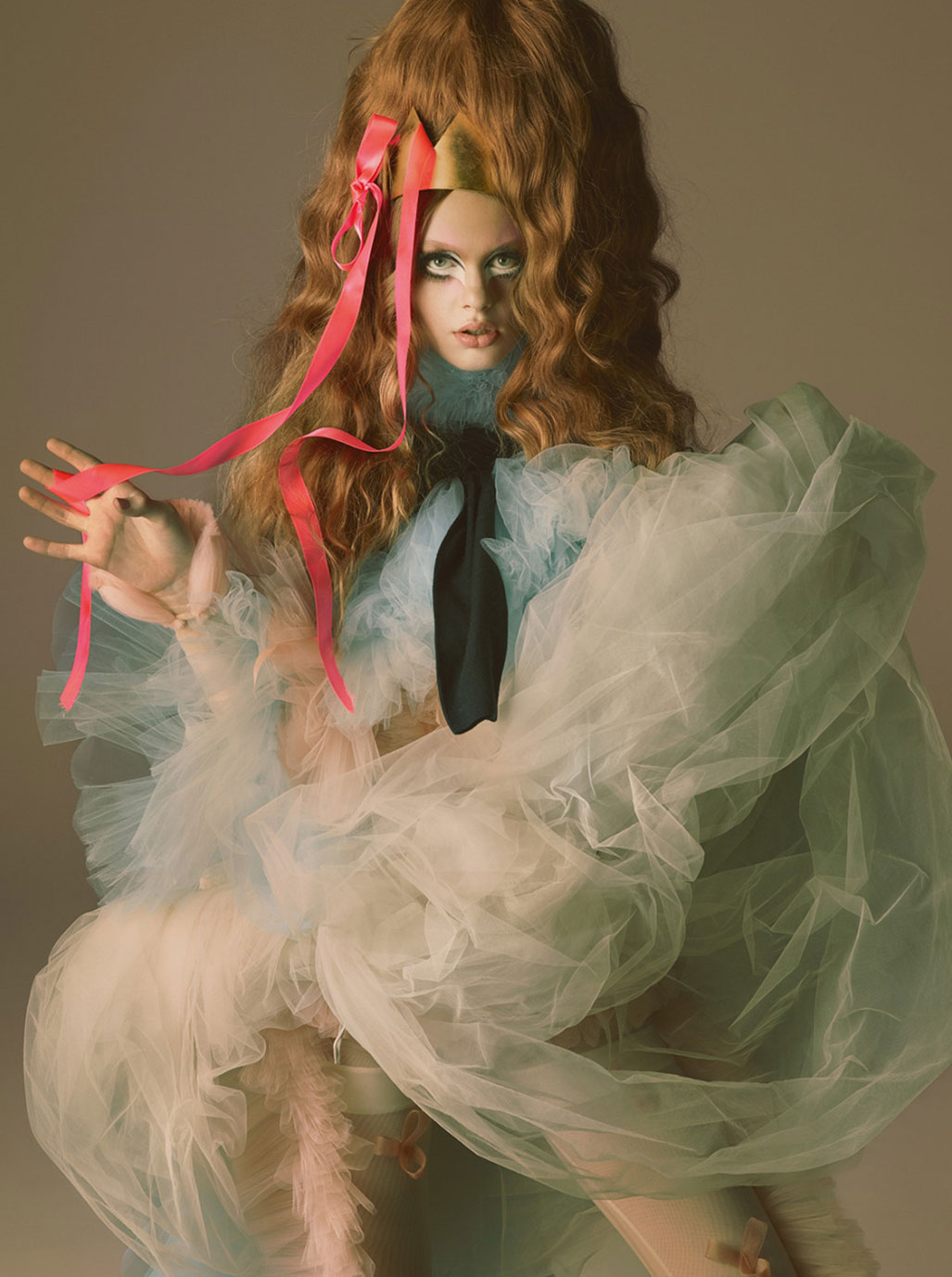 Pink Opaque / Ariel Nicholson by Mert Alas and Marcus Piggott / Love Magazine fall/winter 2018