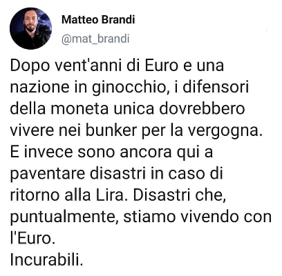 Tre italiani su 4 fedeli all'euro Y5ZStANg_o