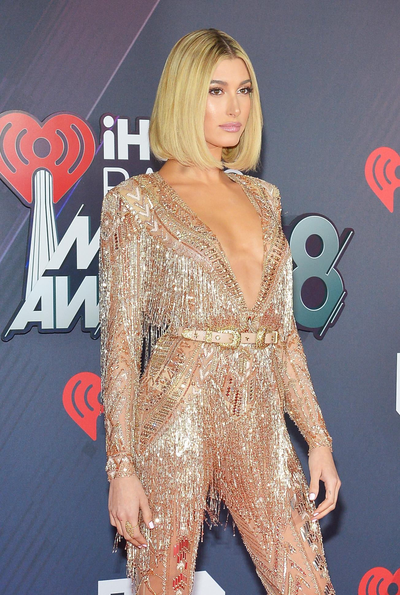 Hailey Baldwin – 2018 iHeartRadio Music Awards in Inglewood – 3/11/18