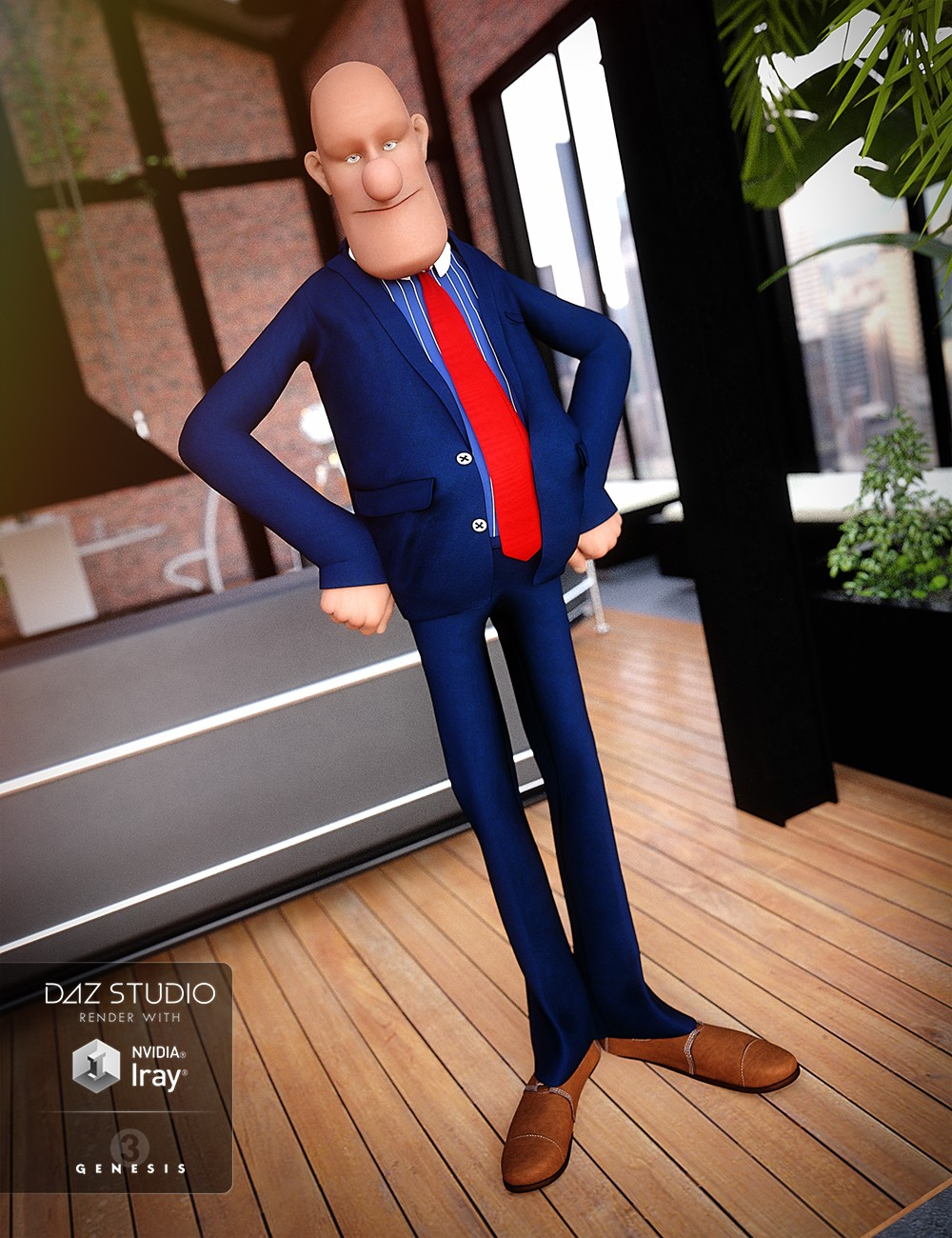 Toon Business Suit for Genesis 3 Male(s)