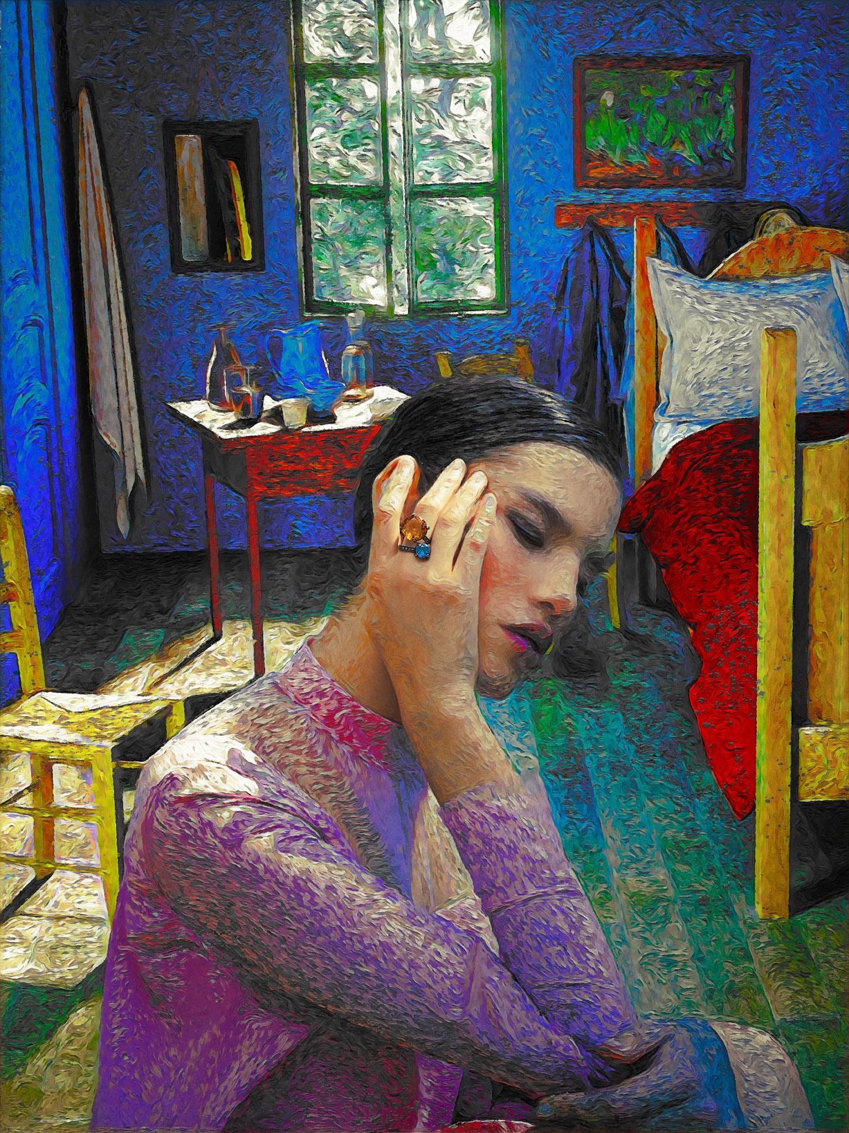Реклама ювелирных изделий в стиле Ван Гога / фото 09