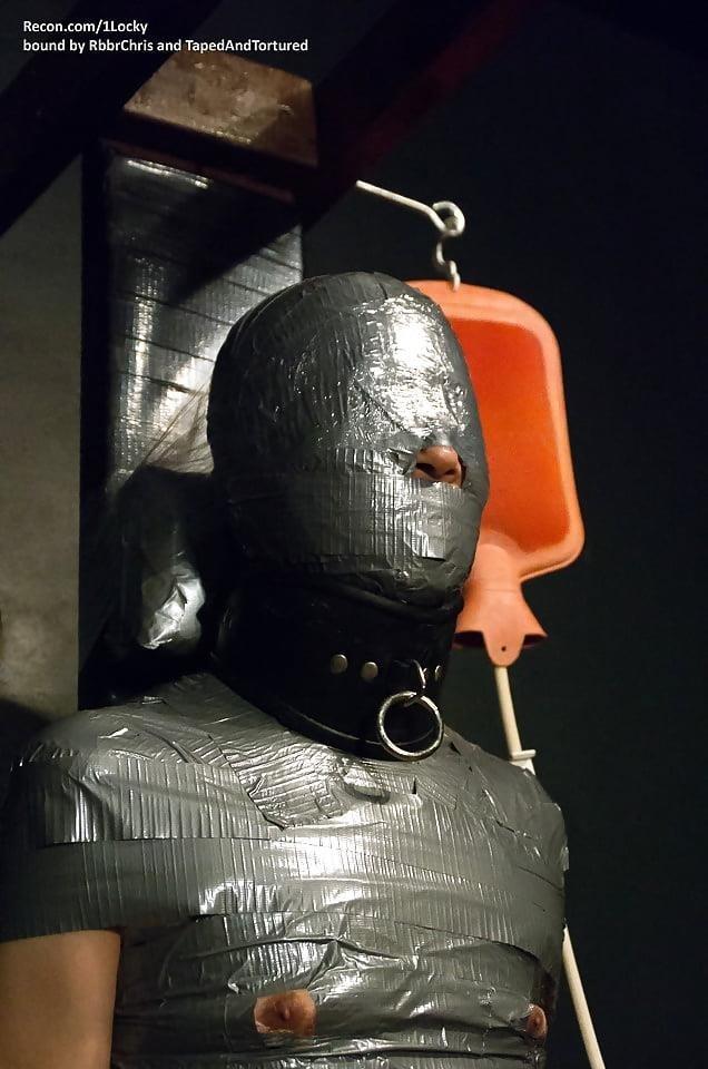Mummification bondage girl-1386