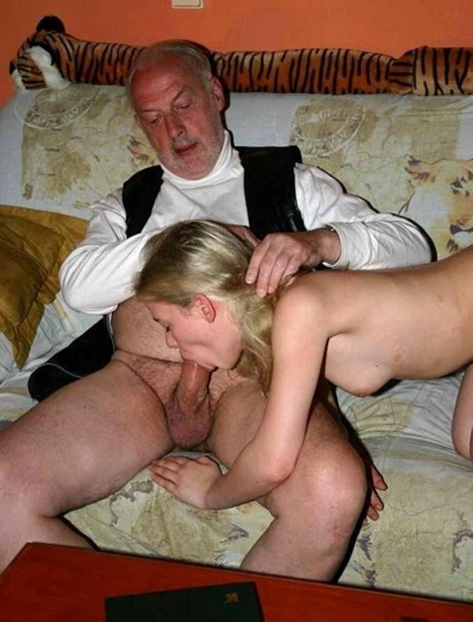 Hot girl with old guy-7011