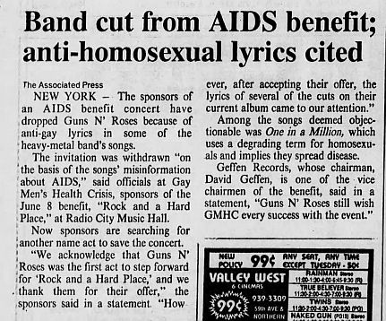 1989.03.15 - Journal and Courier - Guns N' Roses axed from AIDS benefit 0FjlVrj6_o