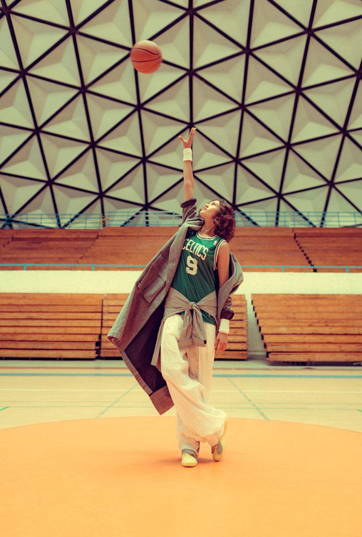симуляция баскетбола НБА в исполнении фотомодели Синди / фото 04